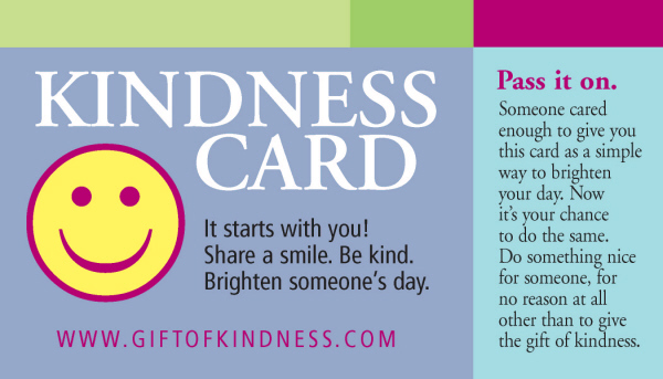 graphic about Kindness Cards Printable identified as Reward of Kindness Kindness Playing cards » Present of Kindness